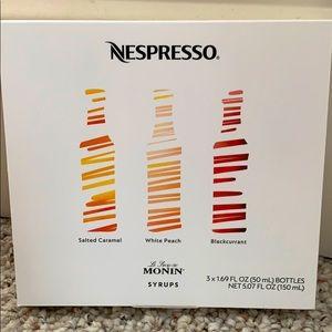 Nespresso Syrups (three flavors)